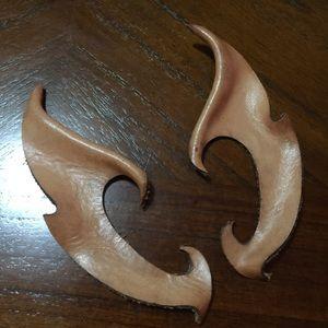 Vintage leather elf ears